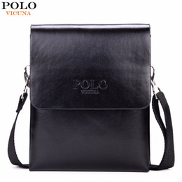 Wholesale Hottest Cell Phone Covers - VICUNA POLO Hot Sell Brand Solid Double Pocket Soft Leather Men Messenger Bag Small 2 Layer Mens Travel Bag Mens Bag For Phone