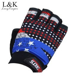 mitts gym Coupons - LongKeeper Half Gloves Sports Weight Lifting Body Building Fitness Men Womens Gym Gloves Anti Slip Training Exercise Mitts