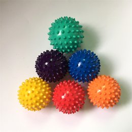 2019 palle di massaggio del punto di innesco Footful Spiky Massage Ball Cervicale Vertebra Recupero Acupoint Trigger Point Muscle Relax Mano Terapia Relief Terapia Hedgehog Ball 2 79by bb palle di massaggio del punto di innesco economici