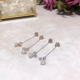 Wholesale Small Stud Earrings Animals - Animal Shap Small Cute Lovely Long Haning Stud Earring Zircon Shinning Cubic Stone Young Lady Needle Silver