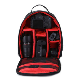 Wholesale Slr Pouch - New SLR Camera Bag Waterproof Shoulder Videocamera Package Scratch-resistant Outdoor Digital Camera Small Backpack Placed Tripod