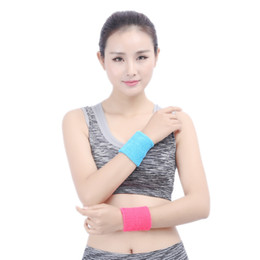 Wholesale Basketball Wristbands - Hot 6 Colors cheap Wristbands Sport Sweatband Hand Band Sweat Wrist Support For Gym Volleyball Basketball Support FBA Drop Shipping G900Q