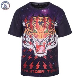 2019 galaxy space t shirt men 2017 Mr.1991INC Espace Galaxy T-shirt Hommes / Femmes 3d T-shirt Imprimer Lightning Tiger Marque T-shirt De Mode D'été Tops T-shirts galaxy space t shirt men pas cher