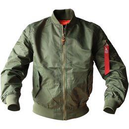 Wholesale spring military jacket men - 2017 Spring Collar military Jacket Men's Air Force 1st Ma01 Flight Pilot Bomber Jackets for men Large Size M-6XL 8807
