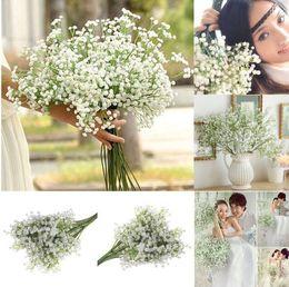 Wholesale party babys - Artificial Gypsophila Flower Fake Silk Wedding Party Bouquet Home Decor Fake Babys Breath Gypsophila Plant KKA5194