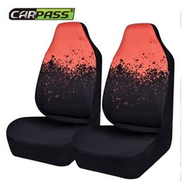 Wholesale Red Universal Car Seat Covers - 2 Front Car Seat Cover Universal Fits Most Auto Interior Accessories Seat Covers 3 Colors Automotive Cushion Protective