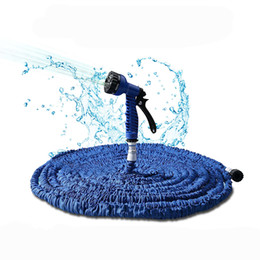 water garden pipe spray Coupons - 75 feet (22.5 m) Irrigation water Flexible Garden Water Hose Spray Gun Magic Hose Pipe Car Washing Home cleaning Tools