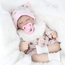 Wholesale Baby Cloths China - 17 Inch 45 CM Kids Playmate Silicone Reborn Baby Dolls Cloth Body Lifelike Soft Silicone Reborn Fashion Doll For Girs Children's Toys