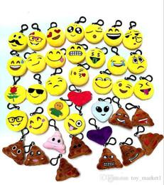 2019 catena chiave smiley emoji cotone QQ emoji ciondolo peluche Portachiavi Emoji Smiley piccolo ciondolo Emozione QQ Espressione peluche bambola della peluche sconti catena chiave smiley emoji