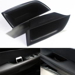 2019 scatola di immagazzinaggio dell'automobile Scatola di immagazzinaggio della maniglia della porta di lato del bracciolo di fila anteriore dell'automobile nera per Kia Sorento 2015-2017 nuovo scatola di immagazzinaggio dell'automobile economici