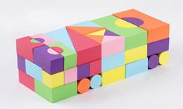 Juguetes para bebés Bloques de construcción Espuma de Eva No tóxico No reciclado para niños Color suave Brillante Brinquedos Juguets 52 piezas desde fabricantes
