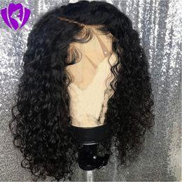 14 Zoll Kurze Afro Verworrene Lockige Perücke Natürliche Synthetische Vordere Spitzeperücken Für Frauen Schwarz Braun Burgunder Farbe Haar