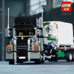 Wholesale Building Blocks Truck - LEPIN 20076 Technic Series Genuine 2907Pcs The Mack Big Truck Set 42078 Building Blocks Bricks Educational Toys For Kids As Gift