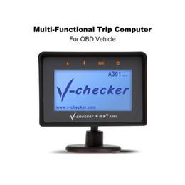 Argentina V-checker A301 Computadora de viaje OBD II Escáner Lector de códigos de fallas del motor del automóvil Herramienta de diagnóstico de diagnóstico CAN Suministro