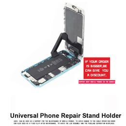 Wholesale tools for repair mobile phones - 360 Rotation Universal Phone Repair Stand Holder Mobile LCD Screen Fastening Fixture Clamp Clip for iPhone iPad Tool