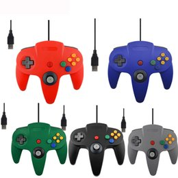 n64 controllers Promo Codes - Wired USB Controller For Nintend N64 Joystick Games Wired Gamepad Joypad For Gamecube Controle N64 PC For Mac Black Gamepad