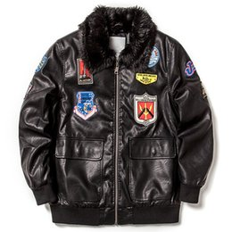 Wholesale Leather Clothes For Black Men - European and American Cool High Street Leather Jackets Fur Collar Motorcycle Leather Jackets For Big and Tall Mens Clothing S800