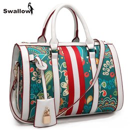 Wholesale Large Metallic Gold Handbag - SWALLOW Bohemian Floral Bags Handbags Women Famous Brand Large Capacity Designer Shoulder Crossbody Bag Luxury With Lock Deco