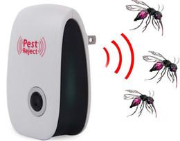 Reattore zanzara del mouse online-Electronic Ultrasonic Pest Repeller Mole Mouse Repellente Anti scarafaggio Zanzara Insetto Killer Roditore Bug Zapper Rifiuta DDA548