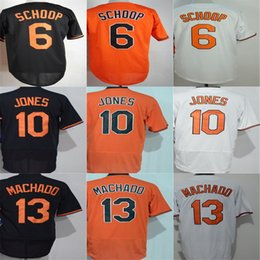 Wholesale Baltimore Xxl - Baltimore Mens Womens Kids Jersey 6 Jonathan Schoop 10 Adam Jones 13 Manny Machado Cool Flex Base White Orange Black Baseball Jerseys XS-6XL