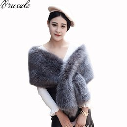 Wholesale Pashmina Fur - 2017 New fashion Scarves & Wraps collars The fox fur collars scarves female fur scarf collar
