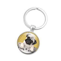 Bouchons de clés en silicone en Ligne-Chien de couverture de clé de chien de bouledogue de silicone Keychain