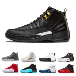 Wholesale Mens Basketball Shoes Best - Best 12 Men basketball Shoes white black french blue gym Red Flu Game taxi playoffs gamma blue 12s sneakers mens trainer Sports Shoes