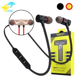 Wholesale Running Wireless Bluetooth Headphones - For Iphone 8 X magnetic Bluetooth Sport Earphone Headphones Earphones Wireless Running Headset With Mic MP3 Earbud Stereo BT 4.2