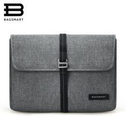 "Wholesale tablet cases for surface - BAGSMART New Travel Bag Laptop Bag Tablet Portfolio Case for MacBook Pro13""  MacBook Air  Microsoft Surface Pro  iPad mini"