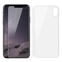 Wholesale Curve Body - Front + Back Tempered Glass Screen Protector For iPhone X iPhone 8 7 6 6S Plus 9H Hardness HD Screen Protector Film