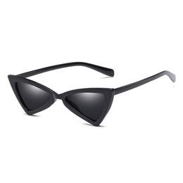Wholesale Cheap Vintage Eyewear - New arrival triangle sunglasses women cat eye vintage Black leopard cheap butterfly sun glasses female Retro Eyewear UV400