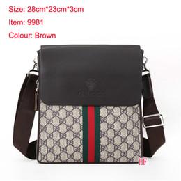 Wholesale denim canvas bags - 2018 Famous Brand Leather Men Bag Briefcase Casual Business Leather Mens Messenger Bag Vintage Men's Crossbody Bag bolsas male wallets A001