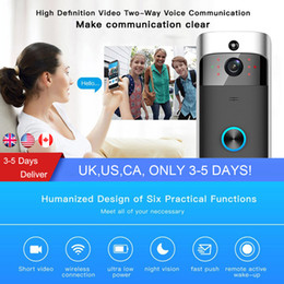 Wholesale mobile wireless wifi - WIFI Video Doorbell Wireless Ring Doorbell with Camera Mobile Phone Remote Monitoring Visual Doorbell Smart for Home