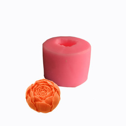 Decorazione della muffa della torta di rosa online-New Rose handmade soap Food Grade silicone Mold DIY Chocolate Cake Decoration soap soap Mold