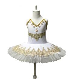 Robes de danse blanches professionnelles en Ligne-Professional White Swan Lac Ballet Tutu Costume Filles Enfants Ballerine Robe Enfants Ballet Dress Dancewear Robe De Danse Pour Les Filles 4 Couleur