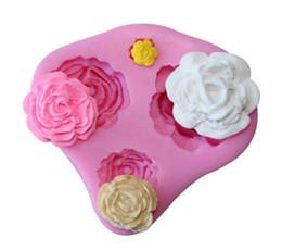Wholesale Silicone Molds Fondant Flowers - Silicone Cake Mold 3D Rose Flower Fondant Chocolate Mould DIY Decorating Tool Silicone Sugar mini mold Craft Molds DIY Cake Decorating Mold