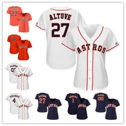 72b398470 Donna Custom Houston Astros George Springer Jose Altuve Alex Bregman Carlos  Correa Nolan Ryan Justin Verlander 2018 Giocatore di baseball Jersey players  ...