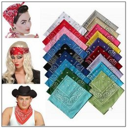 Wholesale Hip Hop Wristbands - 20000pcs lot Novelty Paisley Design Bandana 100% Cotton Magic Anti-UV Headband Hip Hop Multifunctional Wristband Headscarf CCA8715 1lot