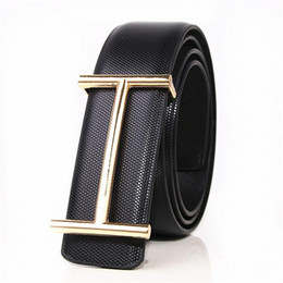 Wholesale boys leather jeans - 2017 men's Luxury Buckle Belt mens smooth buckle leather belts male high quality designer Brand ceinture mens Luxury belt Jeans 32-40in