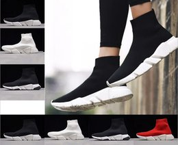 Wholesale Cheap Red Flats - 2018 High Quality Cheap 2018 Man&Women Running Shoes Black and Red Speed Trainer Sports Sneakers Casual shoes wholesale 5.0-11