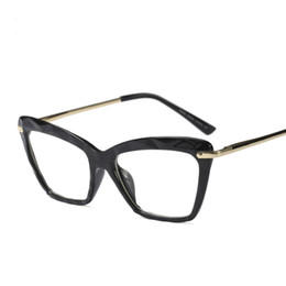 012bd2843f cats computer UK - Fashion Women Cat Eye Eyeglasses Frame Men Optical  Glasse Frame Retro Eyeglasses