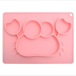 whale tools 2018 - Wholesales Kawaii Crab Whale Kids Silicone Food Tray Dishes Lunch Box Dinner Plates set Household Supplies Kitchen Accessories Travel Tools