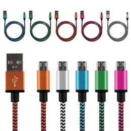 мобильный телефон 3 м Скидка 1 м/2 м / 3 м горячие продажа плетеный ткань Micro USB 2.0 V8 шнур синхронизации данных зарядное устройство зарядки кабель для Android смартфон сотовый