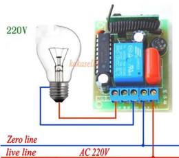 récepteur émetteur rf 1ch Promotion AC 220v 10A Relais 1CH Sans Fil RF Télécommande Commutateur Émetteur Récepteur Smart Home 315MHZ