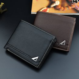 Wholesale Wholesale Wallets For Men - wholesale casual business men short wallet fashion transverse credit card money clip youth student wallet 2 colors for choice