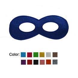 Wholesale stage decoration children - free shipping kids superhero cosplay masks Children Halloween Cosplay Mask colorful Party favor Felt Decoration Mask