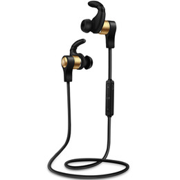 Wholesale Golden Usb - H3 MICRO USB Change Interface Bluetooth 4.1 Stereo Heavy Bass Headphones Stylish Bluetooth Earphone (Golden Black Red)