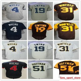 1d8b33c24 wil myers Promo Codes - Stitched Mens  4 Wil Myers Jersey 19 Tony Gwynn 31