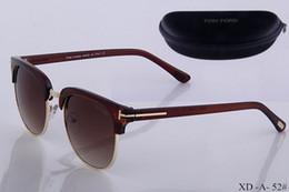 Top quality new moda óculos de sol para tom man mulher eyewear designer marca óculos de sol ford lentes com caixa 52 de
