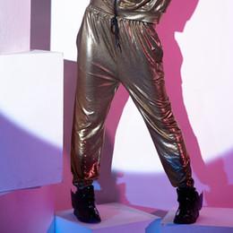2019 pantalones de harén de oro 2016 Nuevas Mujeres de Oro Negro Dot Harem  pantalones mediados 736a2d71eeb